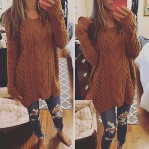 Brown Express Oversized Sweater